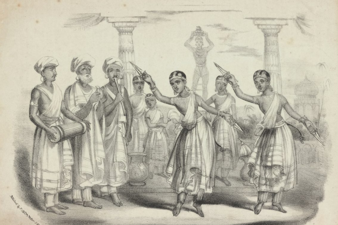 Original Indian temple dancers